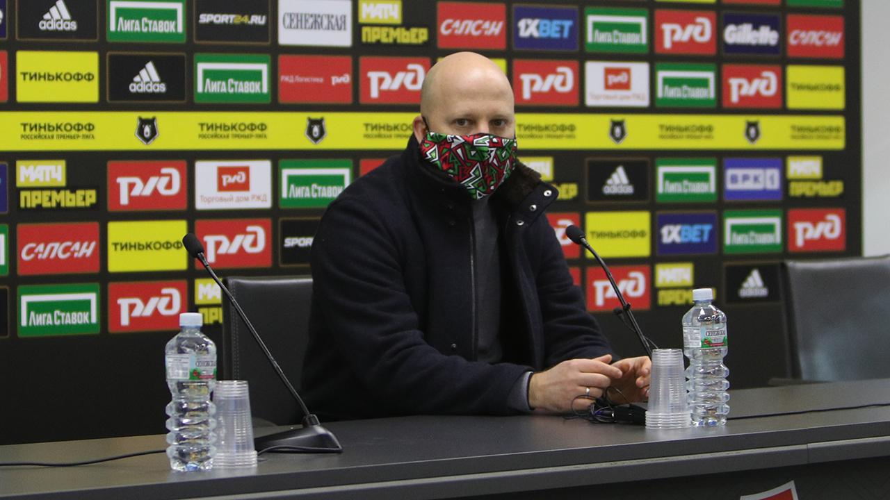 Пресс-конференция Марко Николича после победы над «Рубином»